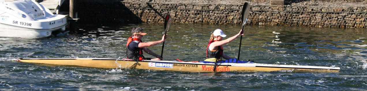 Paddling our first race in Knysna