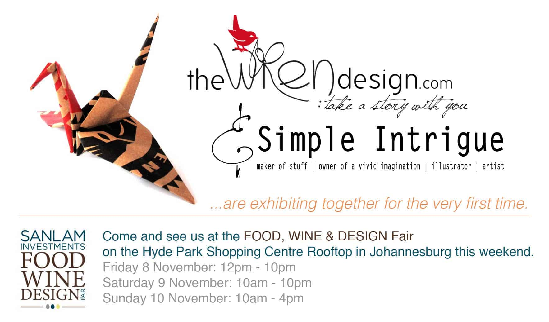 Food, Wine & Design - come and see us copy